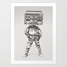 Old School Boy Art Print
