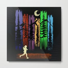 Run Colors Metal Print