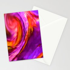 purple and orange spiral Stationery Cards