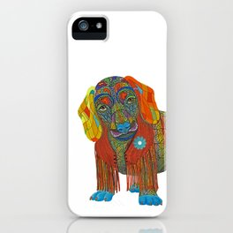 Yellow Mellow Dachshund iPhone Case