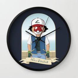 The Son of Pokeball Wall Clock