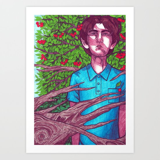 How Green Was My Cherry Tree Art Print