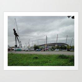 Etihad Stadium and the Last of the B of the Bang Art Print