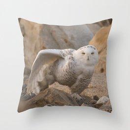 Snowy Owl Yoga Throw Pillow