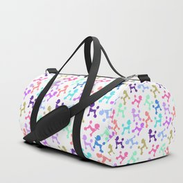 Modern whimsical neon color cute fashion poodle Duffle Bag