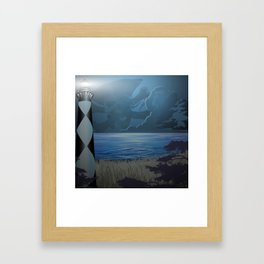 Cape Lookout Lighthouse and Pirate Framed Art Print