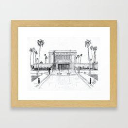 Mesa Arizona LDS Temple Framed Art Print
