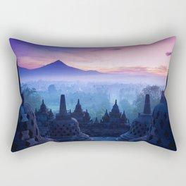 Fog on Temple ||II|| Rectangular Pillow