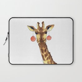 Girafe de Noël Laptop Sleeve