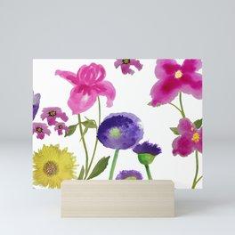Happy garden Mini Art Print