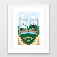 dodgers Framed Art Prints featuring Dodger Stadium by Eric J. Lugo