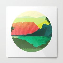 Circlescape Metal Print