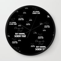 fairy tale Wall Clocks featuring Fairy Tale by Truth be Told