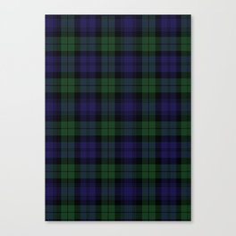 BLACK WATCH TARTAN Canvas Print