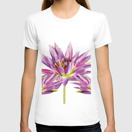 Violet Lotos - Lotus Water Lilies Flowers I T-shirt