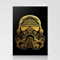 gold foil Stationery Cards featuring Mandala StormTrooper - Gold Foil by Spectronium - Art by Pat McWain