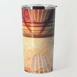 New York City Chrysler Building Up Up and Away Travel Mug