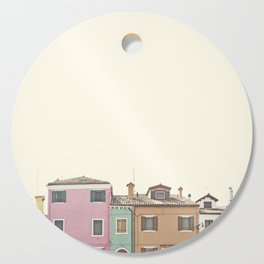Colored Houses Cutting Board