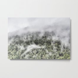 """Mountain light III"". Foggy forest. Metal Print"