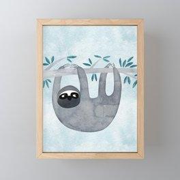 Sloth Framed Mini Art Print