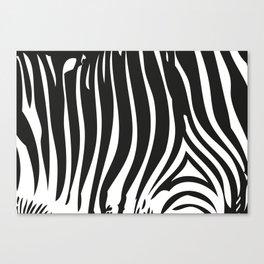 Zebra Stripes | Black and White Canvas Print