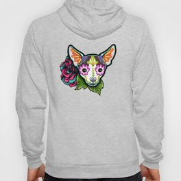 Chihuahua in Moo - Day of the Dead Sugar Skull Dog Hoody