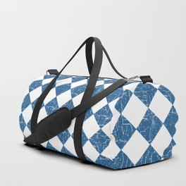 Rustic Farmhouse Checkers in Blue and White Duffle Bag