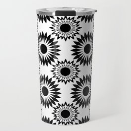 Black and white abstract pattern . 5 Travel Mug