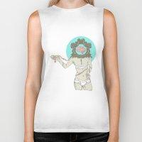 brain Biker Tanks featuring Brain ! by UNCOMMON Graphic Design