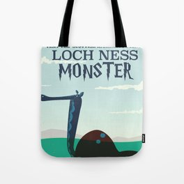 Loch Ness Monster vintage 'children's book' travel poster Tote Bag
