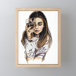 Wednesday Framed Mini Art Print