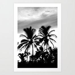 Palm Tree Noir #1 Art Print
