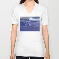geology V-neck T-shirts featuring Frozen Sea of Neptune by Phil Perkins