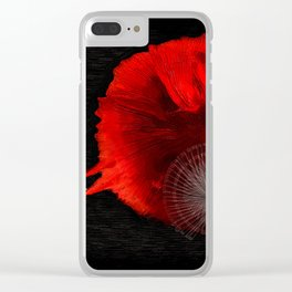 Diving in Red Clear iPhone Case
