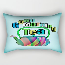 Good Morning Tea Rectangular Pillow