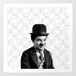 Charlie Chaplin Old Hollywood Art Print