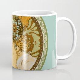 "Alphonse Mucha ""Byzantine Head: The Blonde"" edited Coffee Mug"
