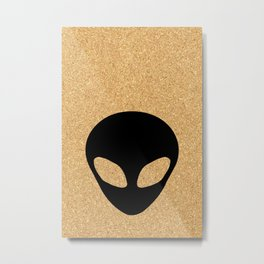 cork paper alien Metal Print