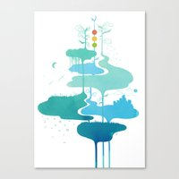 Weather Veins Canvas Print