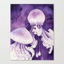 Purple Jellyfish Canvas Print