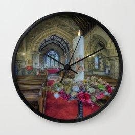 Christmas Candle Wall Clock