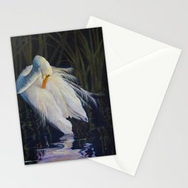 Great Egret at the Pond Stationery Cards