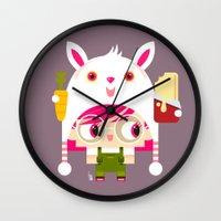 doll Wall Clocks featuring Doll by Geek