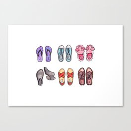 All of the shoes Canvas Print