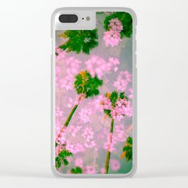 Palm Blossoms v3 Clear iPhone Case