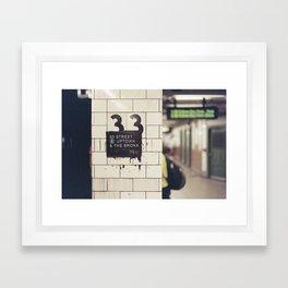 33rd Street & The Bronx Framed Art Print