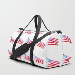 flag on white Duffle Bag