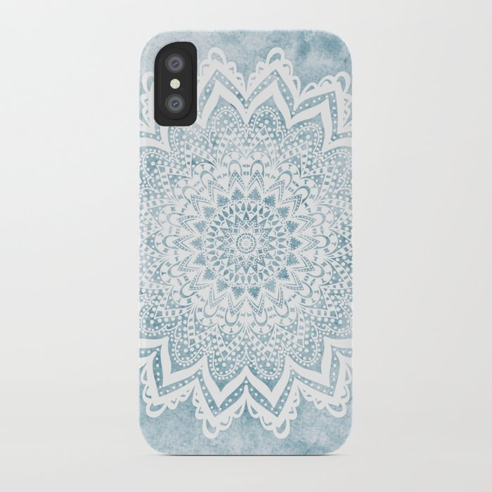 light blue mandala savanah iphone case