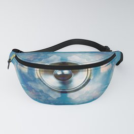 Music speaker and clouds Fanny Pack