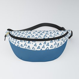 Triangles Blue Fanny Pack